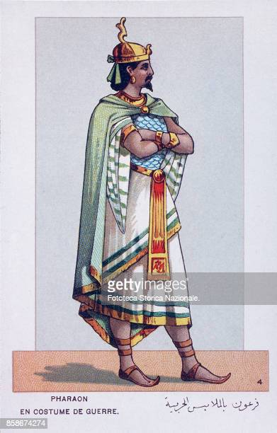 Stage costume of Pharaoh in warship character from 'Aida' the Opera by Giuseppe Verdi and Antonio Ghislanzoni From a series of 24 chromolitographs...
