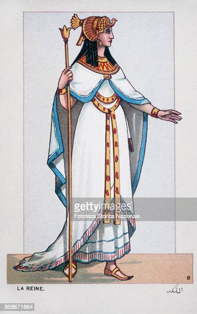 Stage costume of the Princess Amneris in love with Radames in turn in love with her Ethiopian slave Aida character from 'Aida' the Opera by Giuseppe...