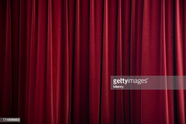 stage curtain red velvet