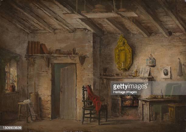 Stage Design for Heart of Midlothian; Deans' Cottage, ca. 1819. Written by Sir Walter Scott Artist Alexander Nasmyth. .