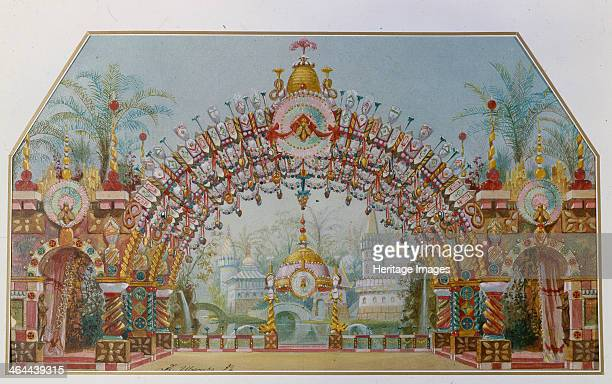Stage design for the ballet The Nutcracker by P Tchaykovsky 1892 Found in the collection of the State Museum of Theatre and Music Art St Petersburg