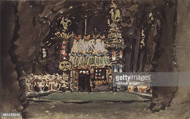 Stage design for the opera Hansel und Gretel by E Humperdinck 1895 Found in the collection of the State Central A Bakhrushin Theatre Museum Moscow
