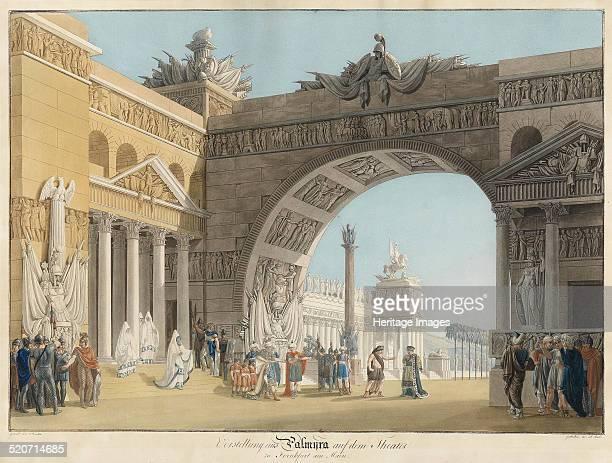 Stage design for the opera Palmira regina di Persia by Antonio Salieri Private Collection