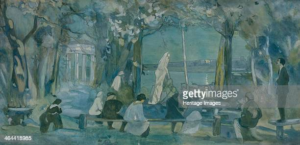 Stage design for the play The Seagull by A Chekhov 1898 Found in the collection of the State Museum of Theatre and Music Art St Petersburg