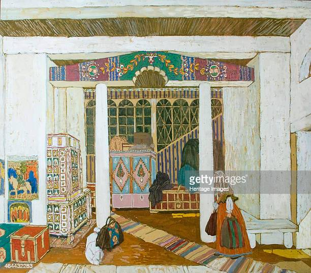 Stage design for the play 'The Storm' by Alexander Ostrovsky 1916Found in the collection of the State Central A Bakhrushin Theatre Museum Moscow