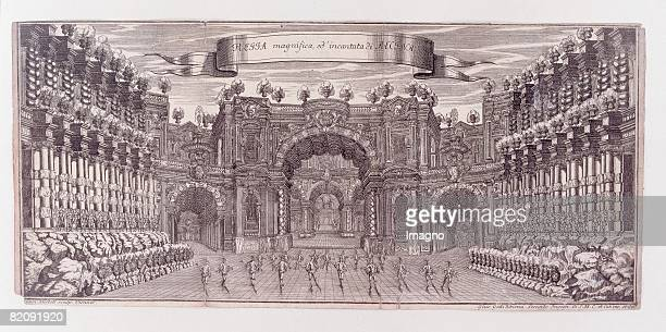 Stage design of the Opera 'Angelica Vincitrice di Alcina' by Pietro Pariatis Act at the Favorita palace on the occasion of the birth of the archduke...