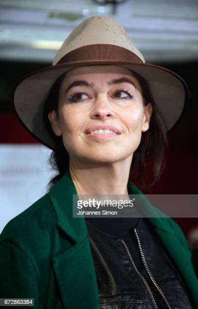 Stage designer Es Devlin attends a press conference presenting the new stage for the Bregenz Festival ahead of the roofing ceremony on April 25 2017...