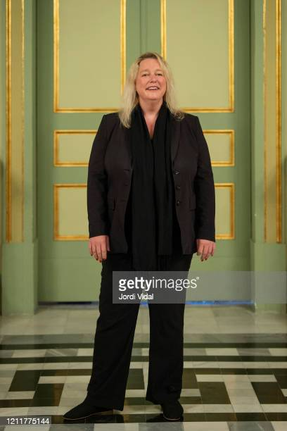 Stage director Katharina Wagner attends the presentation of 'Lohengrin' opera at Gran Teatre del Liceu on March 11 2020 in Barcelona Spain