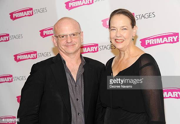 Stage director Michael Wilson and actress Harriet Harris attend Primary Stages 2016 Gala at 538 Park Avenue on October 17 2016 in New York City