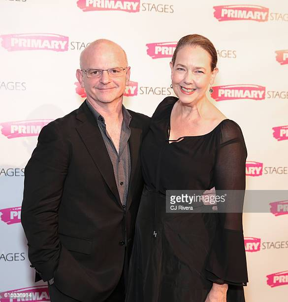 Stage director Michael Wilson and actress Harriet Harris attend the Primary Stages 2016 Gala at 538 Park Avenue on October 17 2016 in New York City