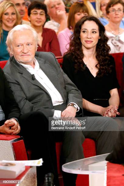 Stage Director Niels Arestrup and his wife actress Isabelle Le Nouvel present the theater play 'Big Apple' at the 'Vivement Dimanche' French TV show...