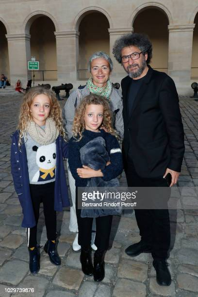 Stage director of the event Radu Mihaileanu Scriptwriter Alexia Stresi and her twins Armele and Lucie attend the Triumph of 'Carmen Opera en Plein...
