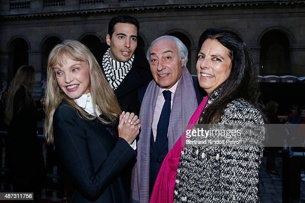 Stage Director of the Opera Arielle Dombasle Francoise Bettencourt Meyers her husband JeanPierre Meyers and their son JeanVictor Meyers attend 'La...