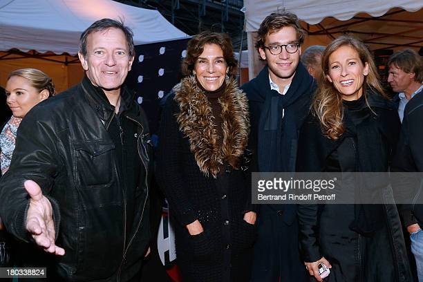 Stage director of the opera Francis Huster writer Christine Orban with her son Milan violonist Anne Gravoin and director Claude Lelouch attend 'Opera...
