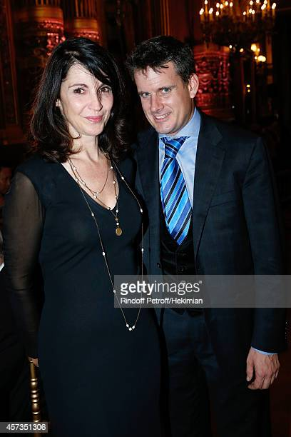 Stage Director of the Opera Zabou Breitman and Musical Direction Philippe Jordan attend the AROP Charity Gala with Opera 'L'enlevement au Serail'...