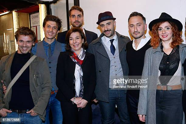 Stage Director of the show Marc Pistolesi actor of the show Benjamin Falletto Son of Yves Montand Valentin Livi his mother Carole Amiel actors of the...