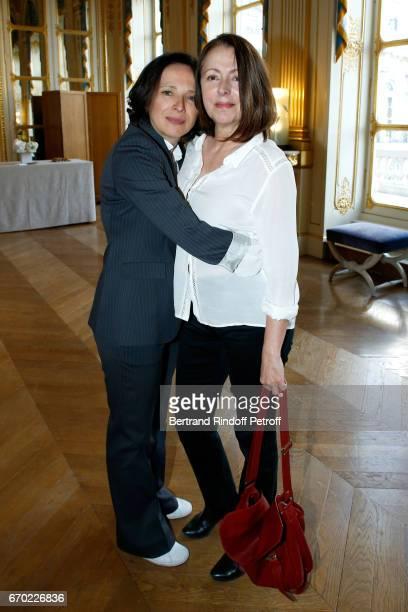 Stage Director Raphaelle Cambray and Nominated for 'Moliere du Meilleur spectacle de Theatre public' for 'Les Enfants du silence' Stage Director...
