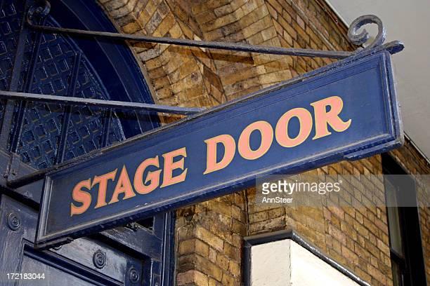Stage door entrance sign