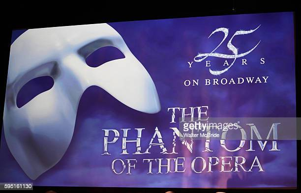 Stage during 'Phantom of the Opera' - 25 Years on Broadway Gala Performance Curtain Call Celebration at the Majestic Theatre in New York City on...
