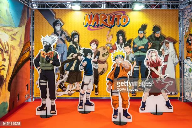 Stage for selfies with Naruto characters Opening of the 36th Barcelona International Comic Fair from 12th15th April 2018 in Fira Barcelona Montjuïc