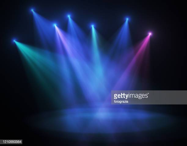 stage lights - illuminated stock pictures, royalty-free photos & images