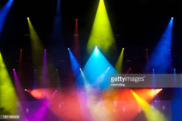 stage lights - stage set stock pictures, royalty-free photos & images