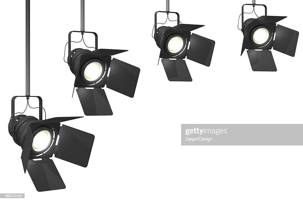 Luzes do palco : Foto de stock