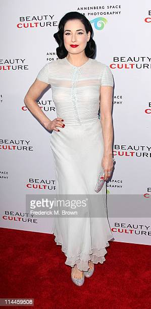 """Stage performer Dita Von Tesse attends the Opening Night of """"Beauty Culture"""" at The Annenberg Space For Photography on May 19, 2011 in Century City,..."""