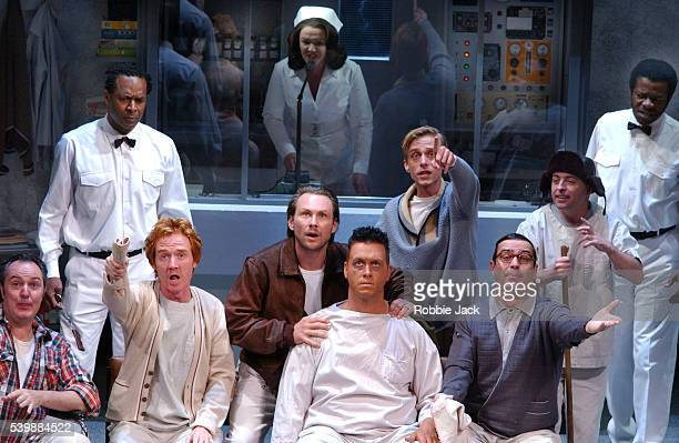 stage production of one flew over the cuckoos nest - frances barber stock pictures, royalty-free photos & images