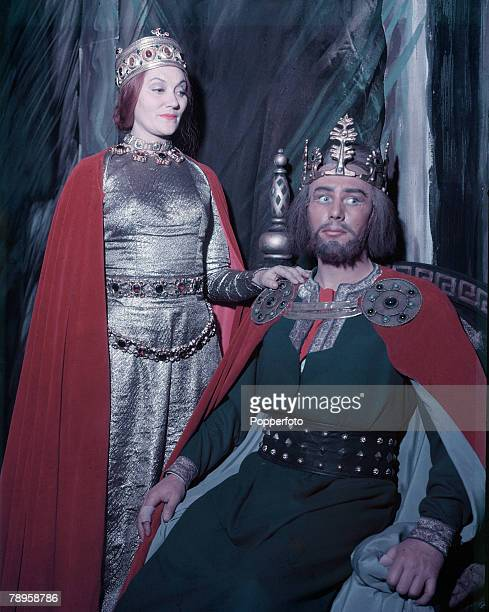 Stage Screen Actor Michael Redgrave playing Macbeth with Ena Burril playing Lady Macbeth