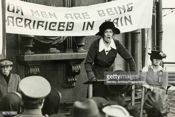 Stage Screen Actress Vanessa Redgrave seen here playing Sylvia Pankhurst in the film 'Oh What a lovely War'