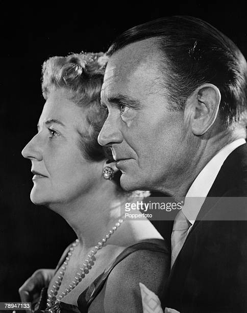Stage Screen Circa 1950 British actor and movie star John Mills with his wife Mary Haley Bell