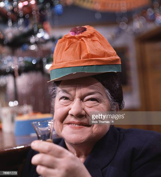 Stage Screen England Circa 1960's Actress Violet Carson who played the part of Ena Sharples in the television series Coronation Street