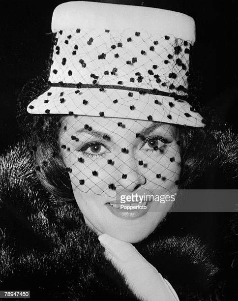 Stage Screen London England 11th December 1959 Portrait of Italian film and movie actress Gina Lollobrigida