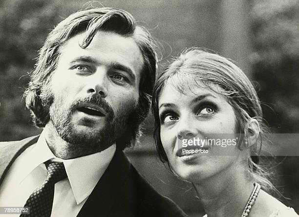 Stage Screen London England Italian actor Franco Nero and Canadian actress Joanna Shimkus who are about to star in the film The Virgin and the Gipsy