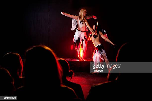 stage theatrical performance - burlesque stock pictures, royalty-free photos & images
