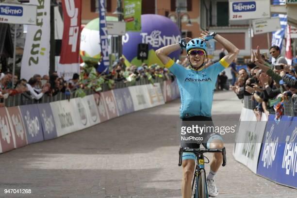 Stage winner Bilbao Lopez de Armentia Pello during 42nd Tour of the Alps Stage 1 ArcoFolgaria km 1346 on 16 April 2018