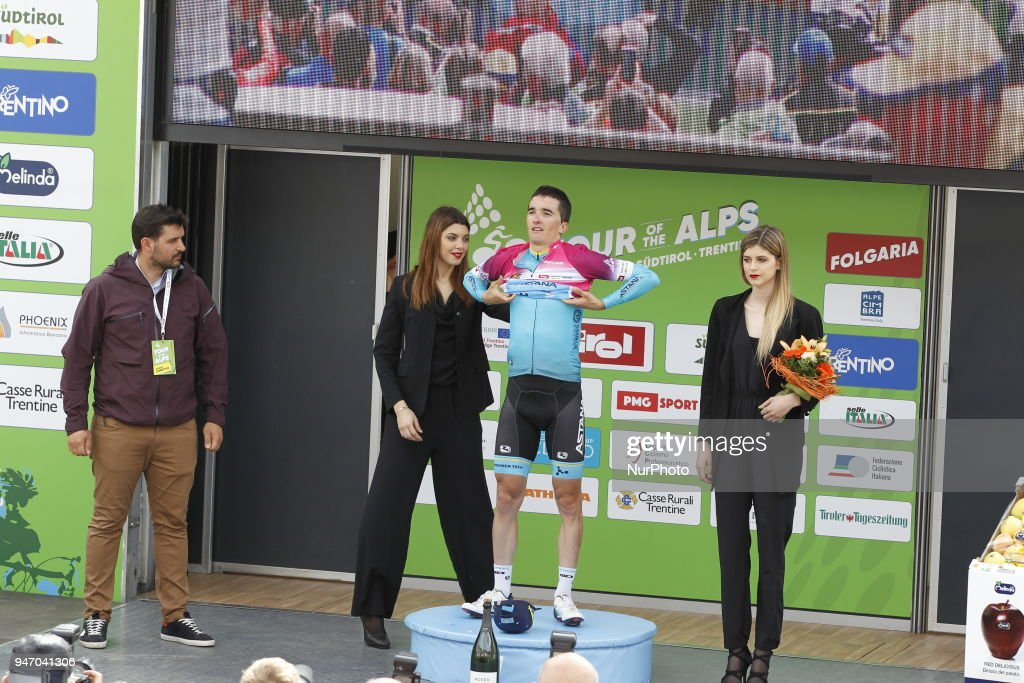 Stage winner Bilbao Lopez de Armentia, Pello during 42nd Tour of the Alps Stage 1 Arco-Folgaria km 134,6 on 16 April 2018.