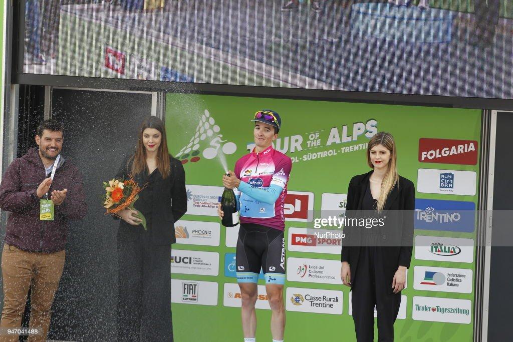 Stage winner Bilbao Lopez de Armentia, Pello (Astana, ESP) during 42nd Tour of the Alps Stage 1 Arco-Folgaria km 134,6 on 16 April 2018.
