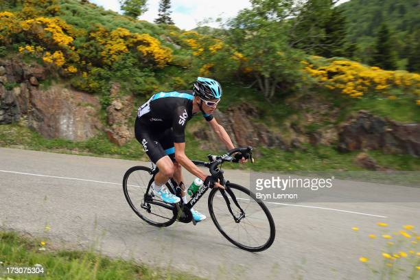 Stage winner Chris Froome of Great Britain and Sky Procycling in action during stage eight of the 2013 Tour de France a 195KM road stage from Castres...