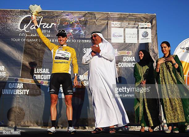 Stage winner Edvald Boasson Hagen of Norway and Dimension Data also took the race lead after stage three of the 2016 Tour of Qatar a 114km Individual...