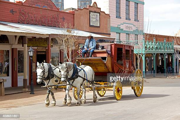 stagecoach - tombstone arizona stock pictures, royalty-free photos & images