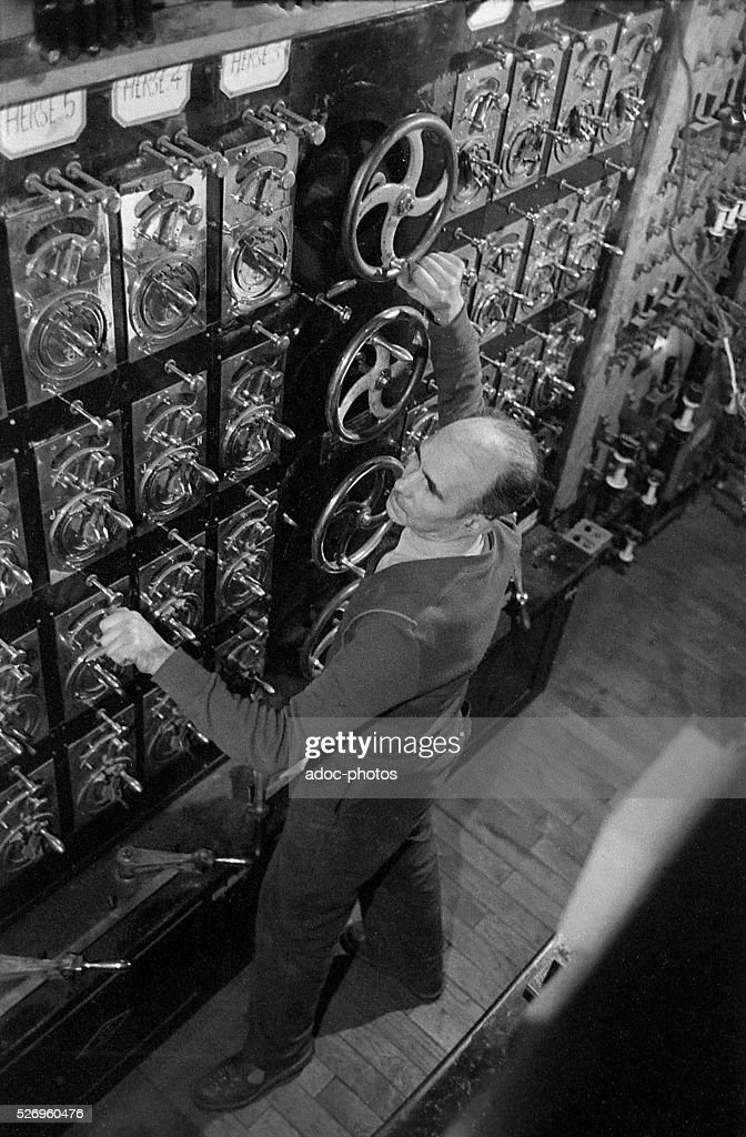 stagehand in a theater france in 1950 pictures getty images
