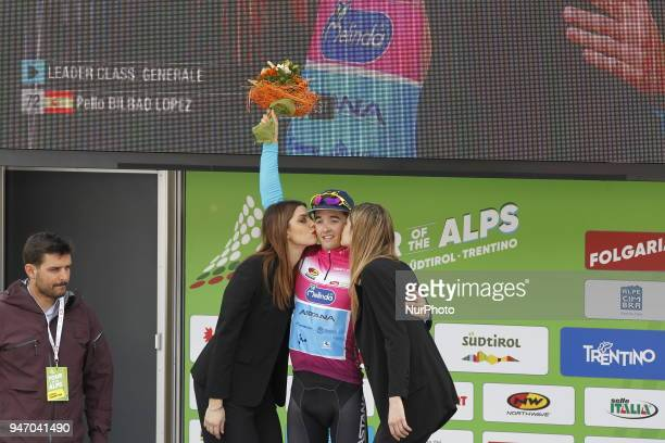 Stagewinner Bilbao Lopez de Armentia Pello during 42nd Tour of the Alps Stage 1 ArcoFolgaria km 1346 on 16 April 2018