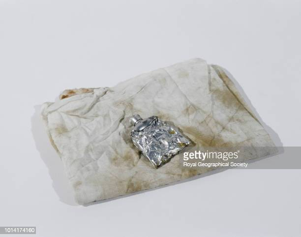 Stained cloth and liniment tube George Mallory and Andrew Irvine famously disappeared en route to the summit of Mount Everest on 8th June 1924...