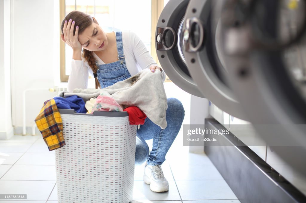 Stained clothes : Stock Photo