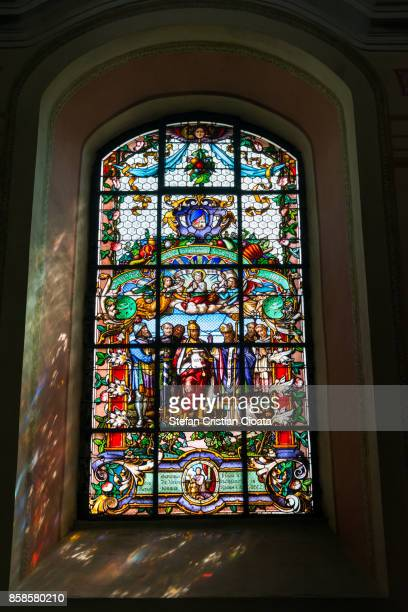 Stained glass at Durnstein