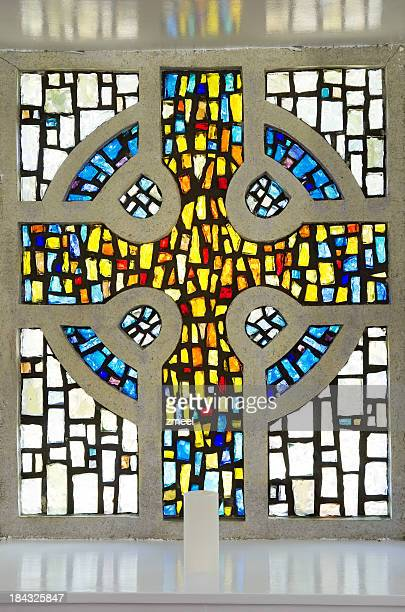 Stained glass Celtic cross
