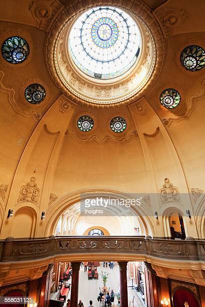 Stained Glass Cupola Of The Gellart Baths Budapest Hungary