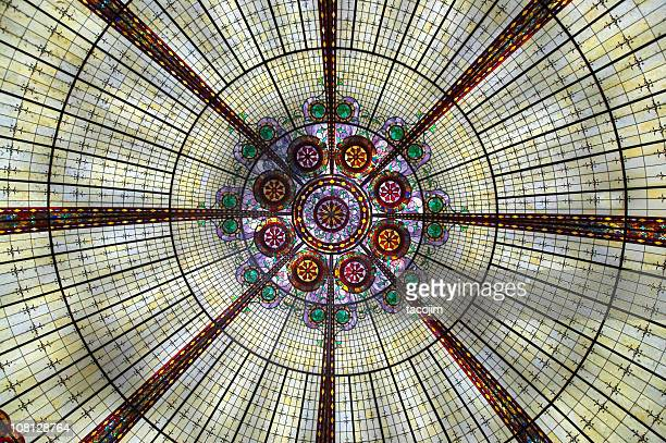 stained glass dome - dome stock pictures, royalty-free photos & images